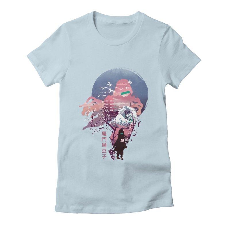 Ukiyo e Nezuko Women's Fitted T-Shirt by dandingeroz's Artist Shop