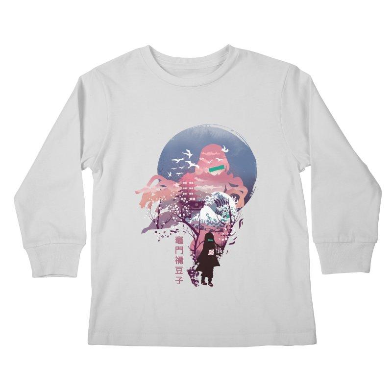 Ukiyo e Nezuko Kids Longsleeve T-Shirt by dandingeroz's Artist Shop