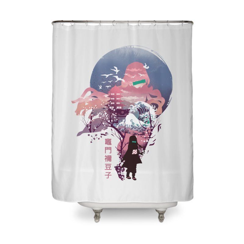 Ukiyo e Nezuko Home Shower Curtain by dandingeroz's Artist Shop