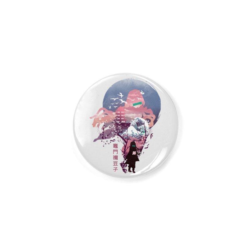 Ukiyo e Nezuko Accessories Button by dandingeroz's Artist Shop