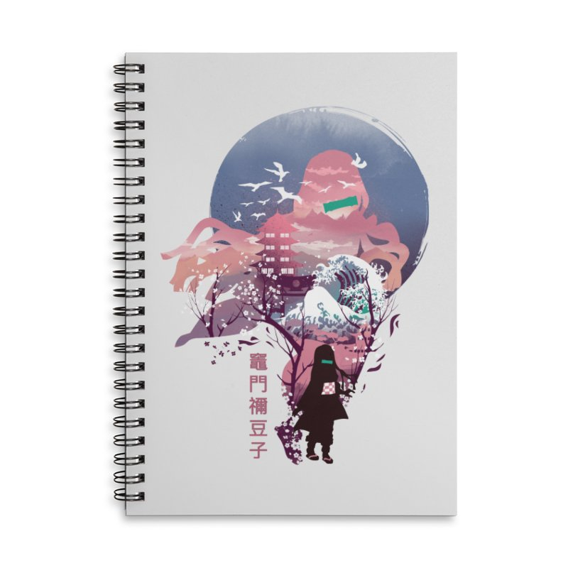 Ukiyo e Nezuko Accessories Lined Spiral Notebook by dandingeroz's Artist Shop