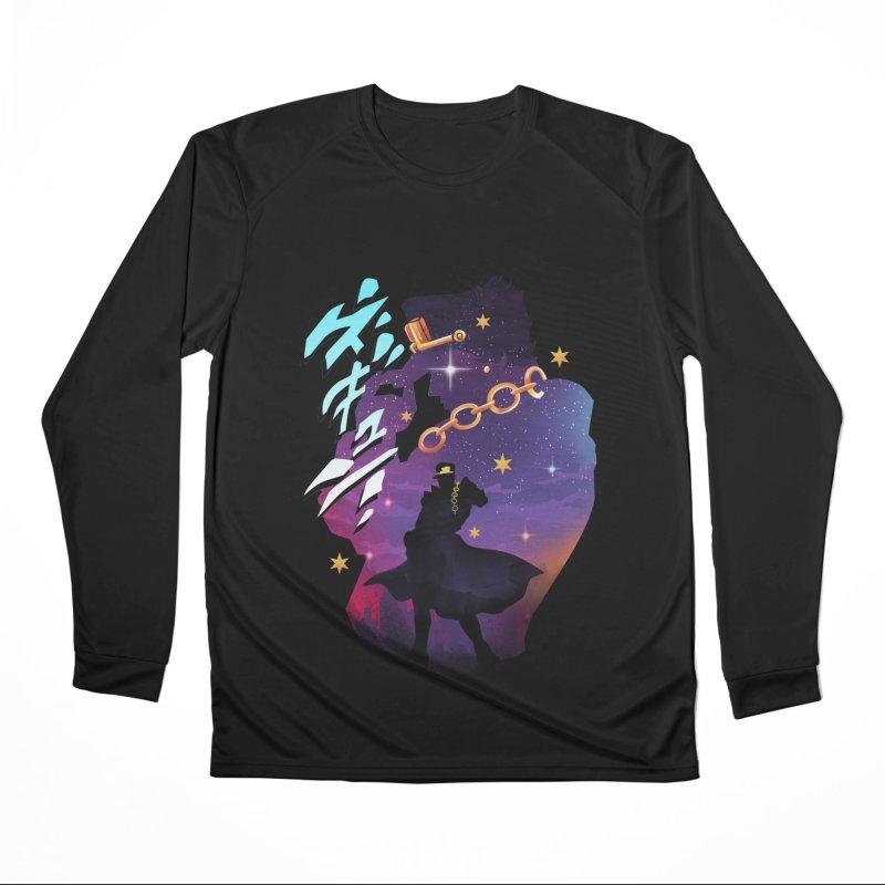 Jotaro Star Adventure Men's Performance Longsleeve T-Shirt by dandingeroz's Artist Shop