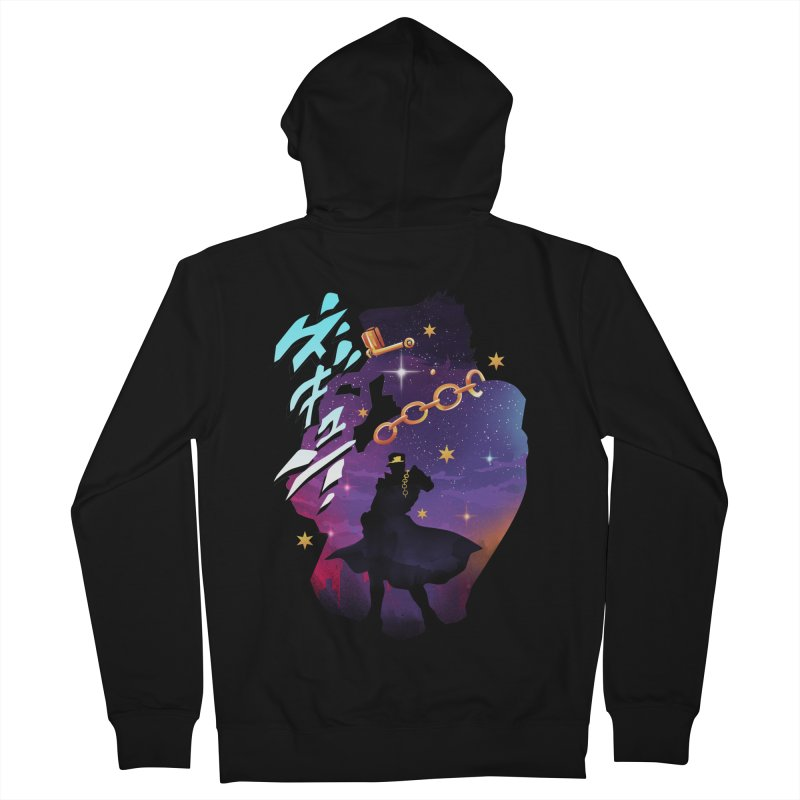 Jotaro Star Adventure Men's French Terry Zip-Up Hoody by dandingeroz's Artist Shop