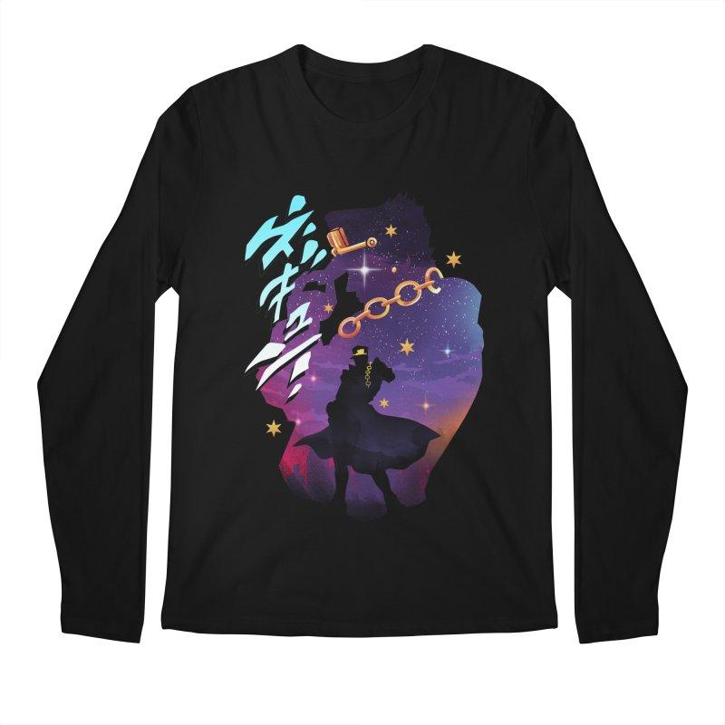 Jotaro Star Adventure Men's Regular Longsleeve T-Shirt by dandingeroz's Artist Shop