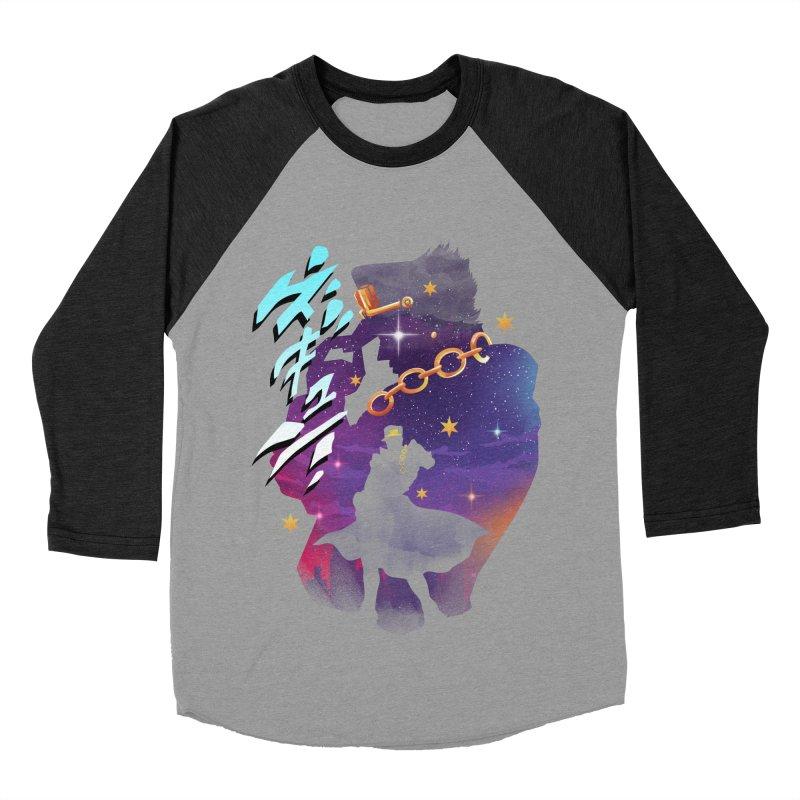Jotaro Star Adventure Men's Baseball Triblend Longsleeve T-Shirt by dandingeroz's Artist Shop
