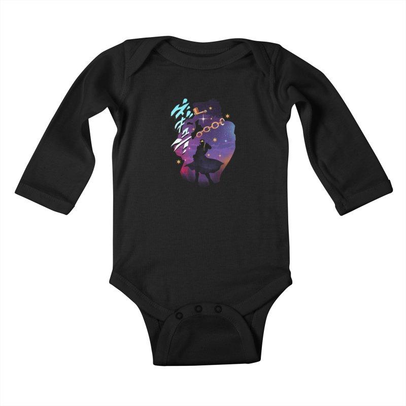 Jotaro Star Adventure Kids Baby Longsleeve Bodysuit by dandingeroz's Artist Shop