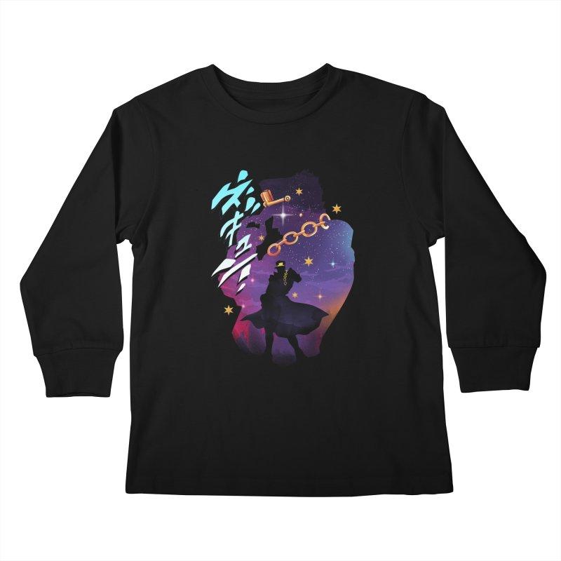 Jotaro Star Adventure Kids Longsleeve T-Shirt by dandingeroz's Artist Shop