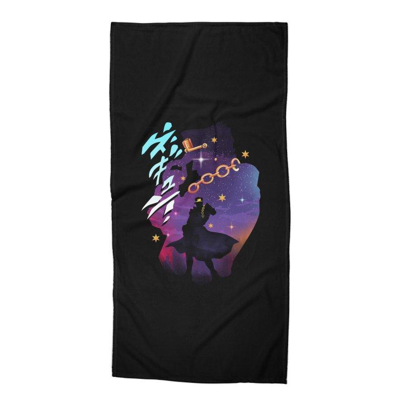 Jotaro Star Adventure Accessories Beach Towel by dandingeroz's Artist Shop