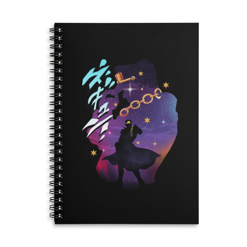 Jotaro Star Adventure Accessories Lined Spiral Notebook by dandingeroz's Artist Shop