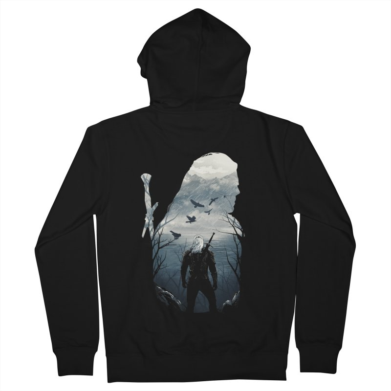 Wild Hunt Men's French Terry Zip-Up Hoody by dandingeroz's Artist Shop