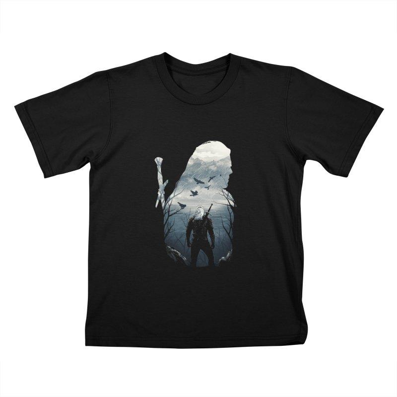 Wild Hunt Kids T-Shirt by dandingeroz's Artist Shop