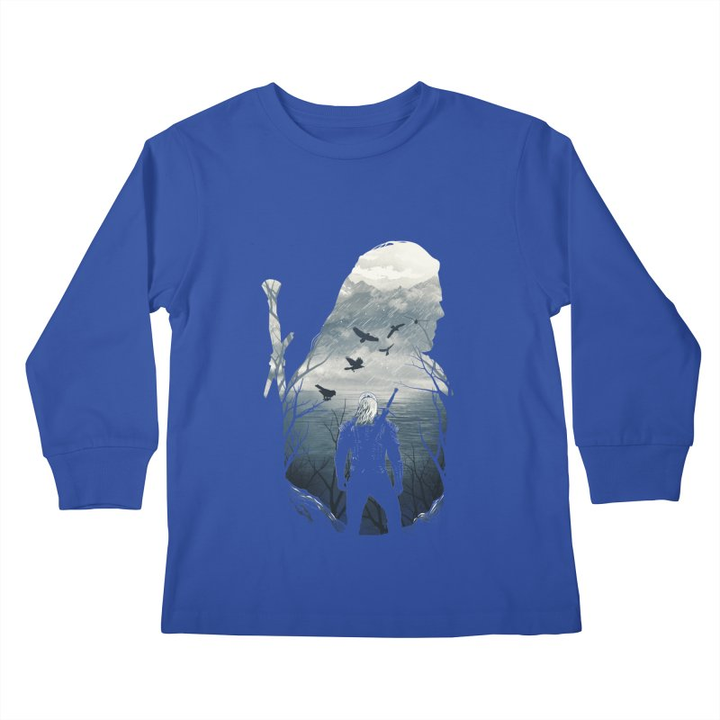 Wild Hunt Kids Longsleeve T-Shirt by dandingeroz's Artist Shop