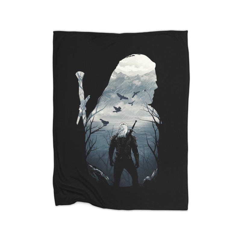 Wild Hunt Home Fleece Blanket Blanket by dandingeroz's Artist Shop