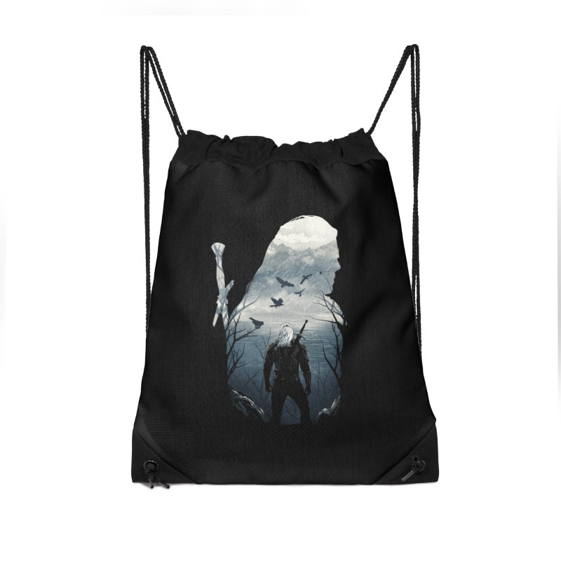 Wild Hunt Accessories Drawstring Bag Bag by dandingeroz's Artist Shop
