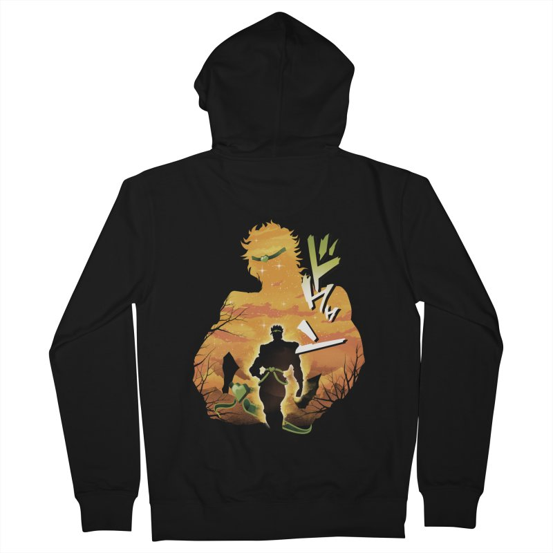 Stardust Crusader Dio Men's French Terry Zip-Up Hoody by dandingeroz's Artist Shop