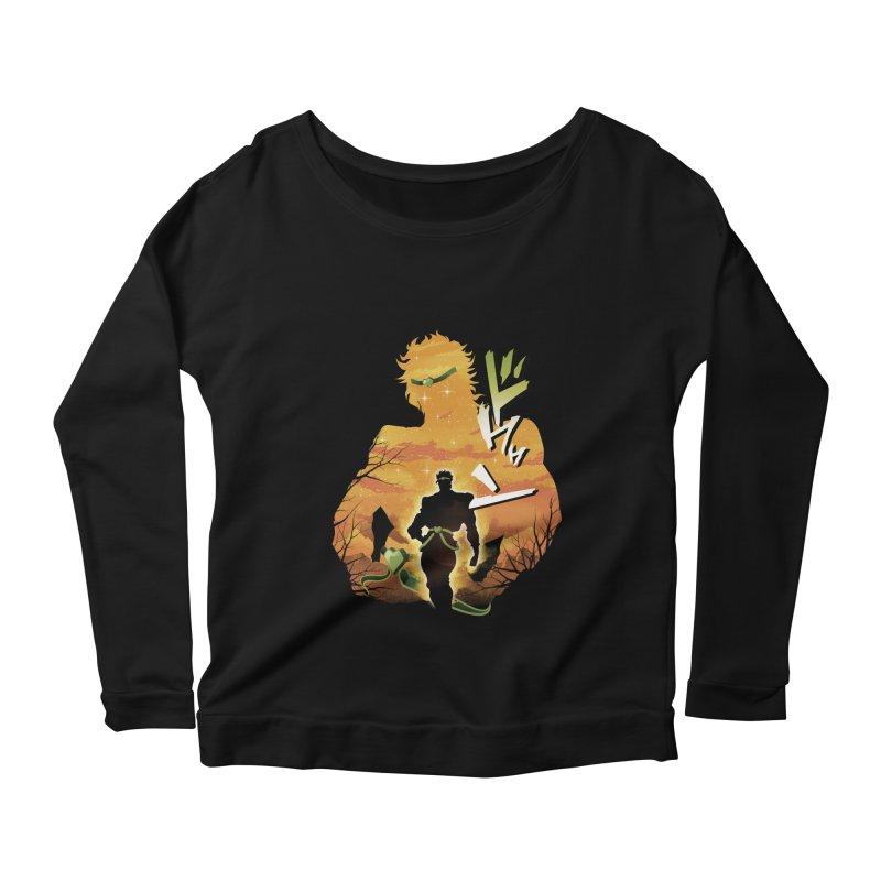 Stardust Crusader Dio Women's Scoop Neck Longsleeve T-Shirt by dandingeroz's Artist Shop