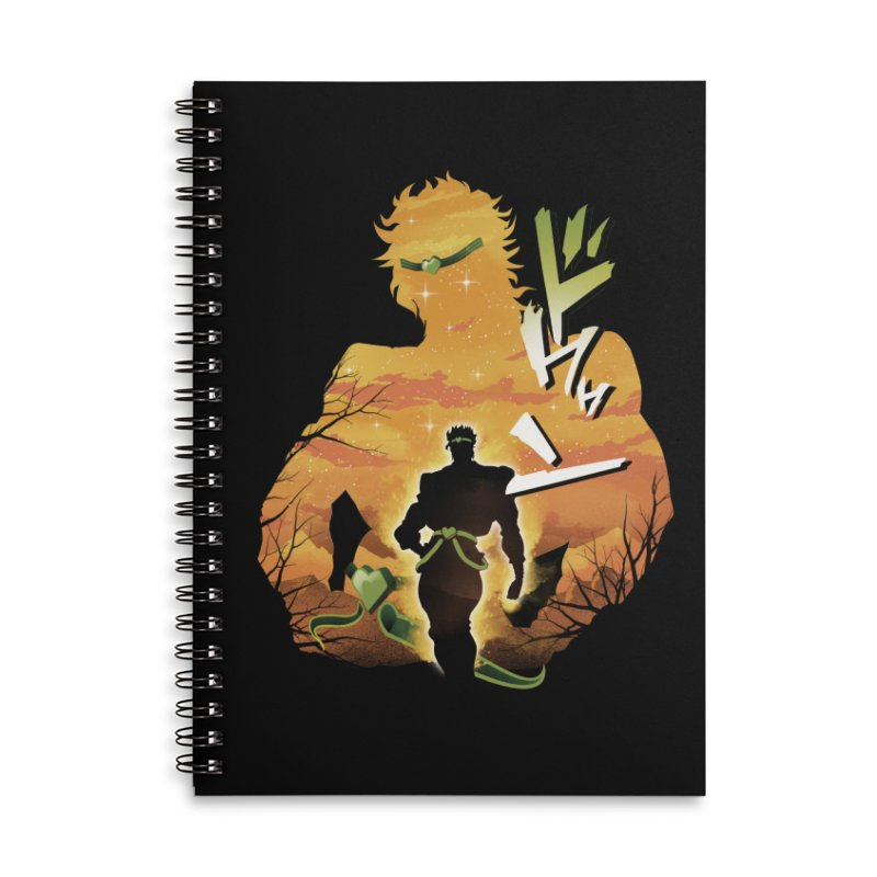 Stardust Crusader Dio Accessories Lined Spiral Notebook by dandingeroz's Artist Shop