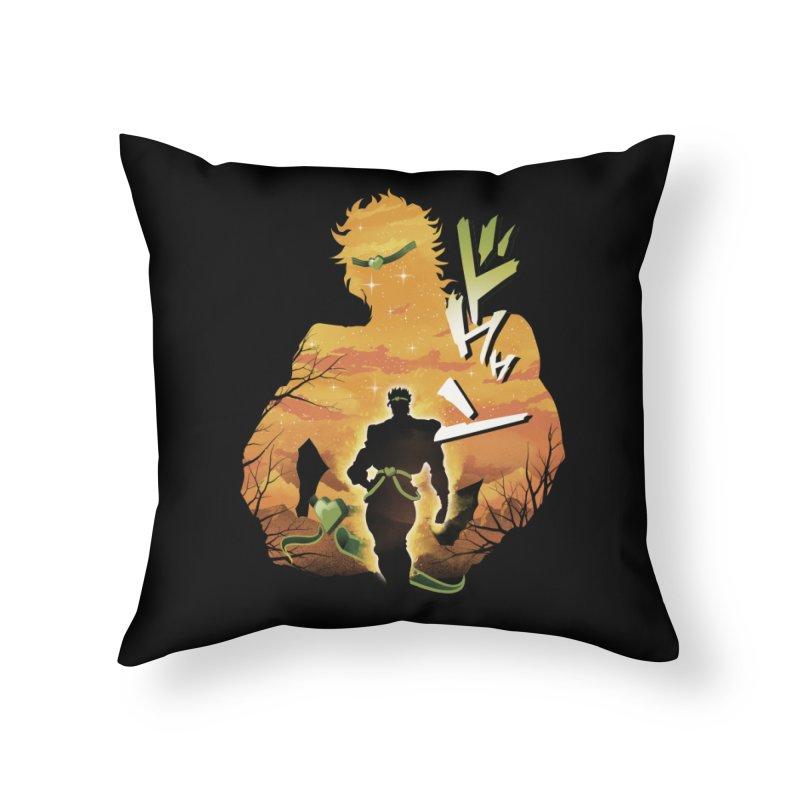 Stardust Crusader Dio Home Throw Pillow by dandingeroz's Artist Shop