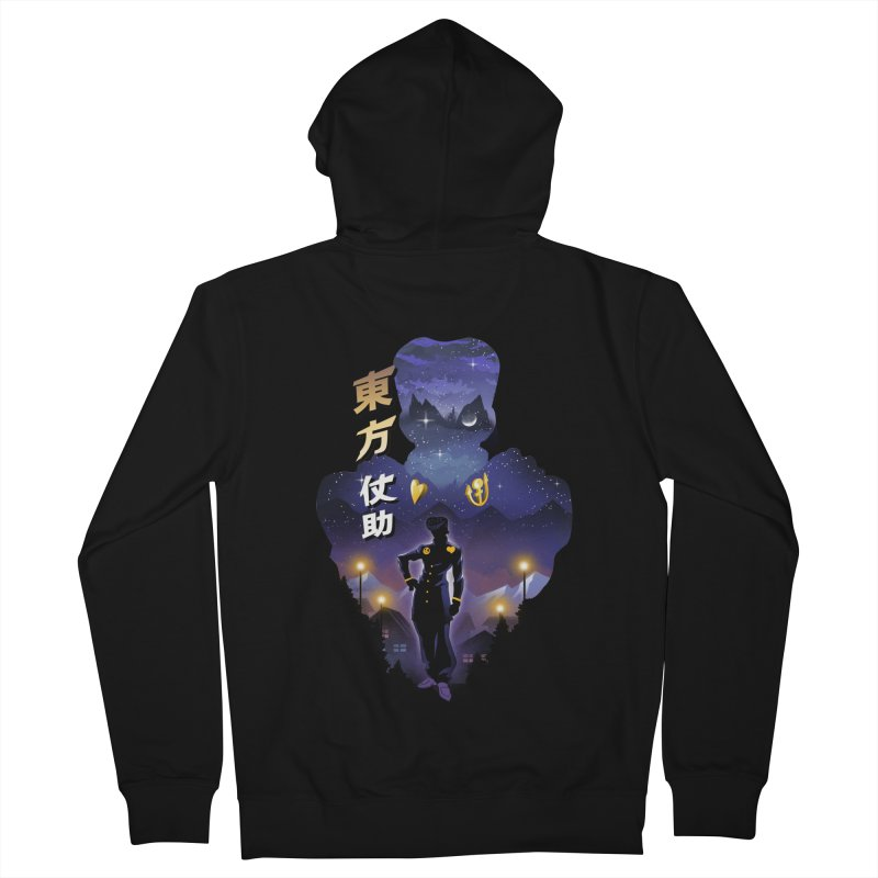 Josuke Crazy Diamond Men's French Terry Zip-Up Hoody by dandingeroz's Artist Shop