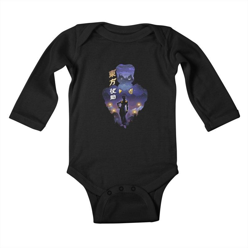Josuke Crazy Diamond Kids Baby Longsleeve Bodysuit by dandingeroz's Artist Shop