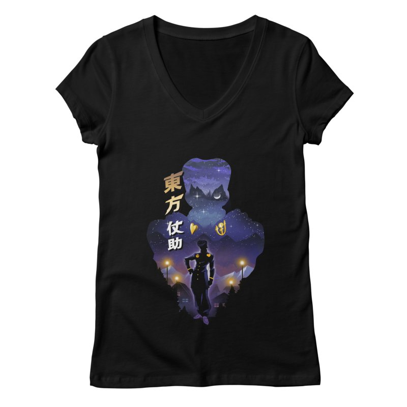 Josuke Crazy Diamond Women's Regular V-Neck by dandingeroz's Artist Shop