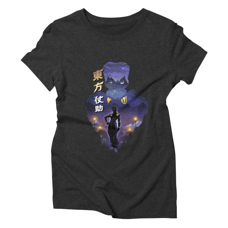 Josuke Crazy Diamond Women's Triblend T-Shirt by dandingeroz's Artist Shop