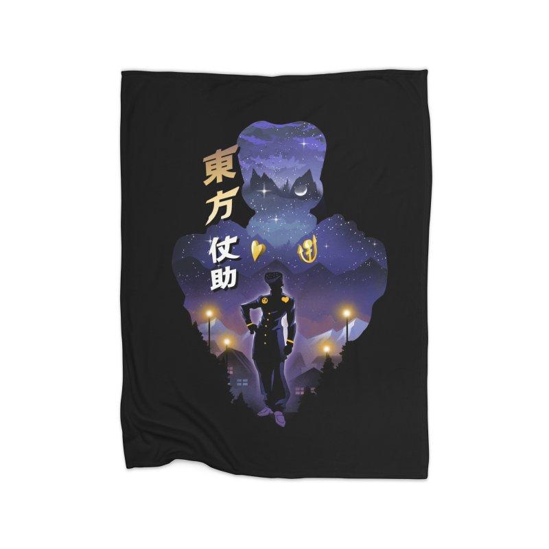 Josuke Crazy Diamond Home Fleece Blanket Blanket by dandingeroz's Artist Shop