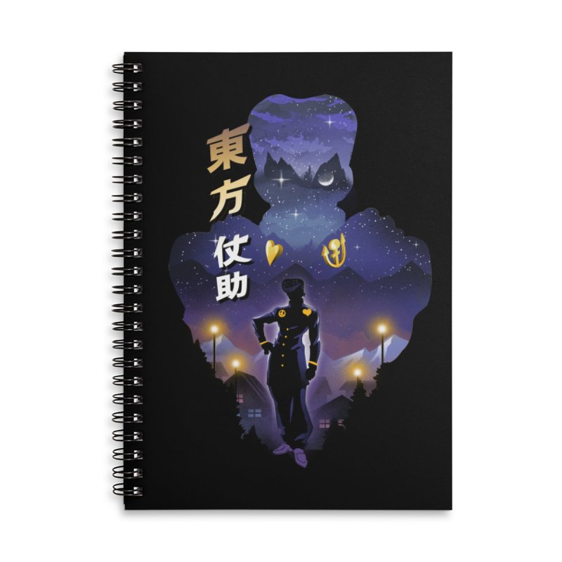 Josuke Crazy Diamond Accessories Lined Spiral Notebook by dandingeroz's Artist Shop