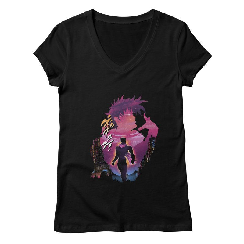 Joestar Adventure Women's Regular V-Neck by dandingeroz's Artist Shop