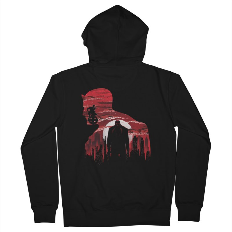 The Man Without Fear Women's Zip-Up Hoody by dandingeroz's Artist Shop