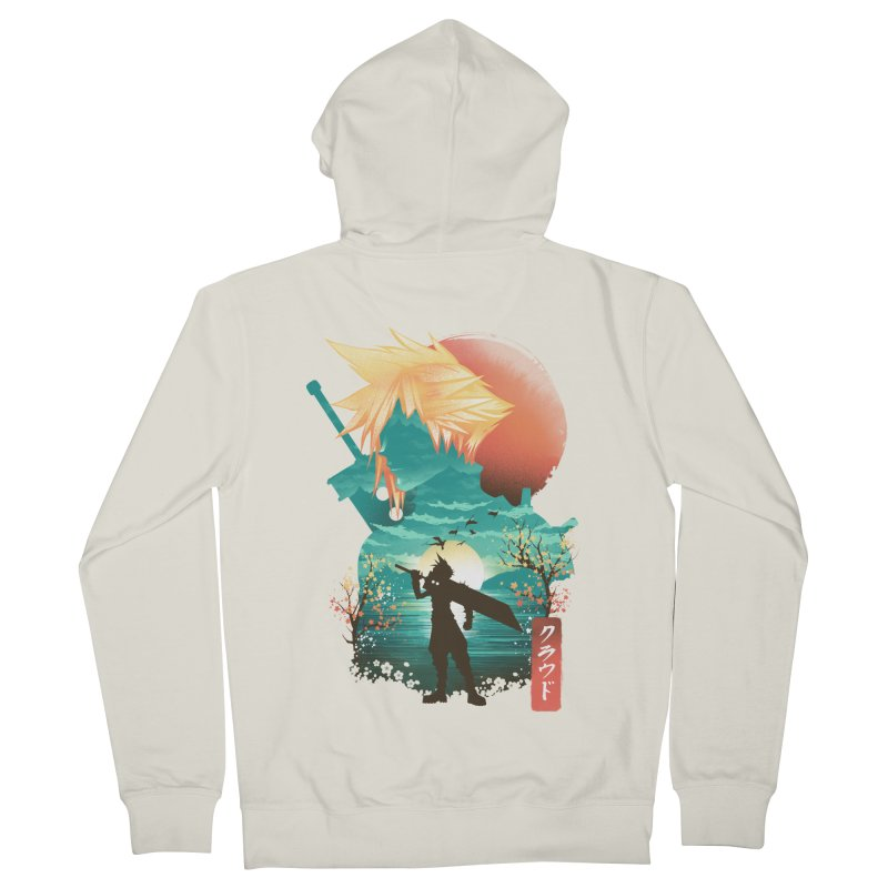 Ukiyo e Ex Soldier Men's French Terry Zip-Up Hoody by dandingeroz's Artist Shop
