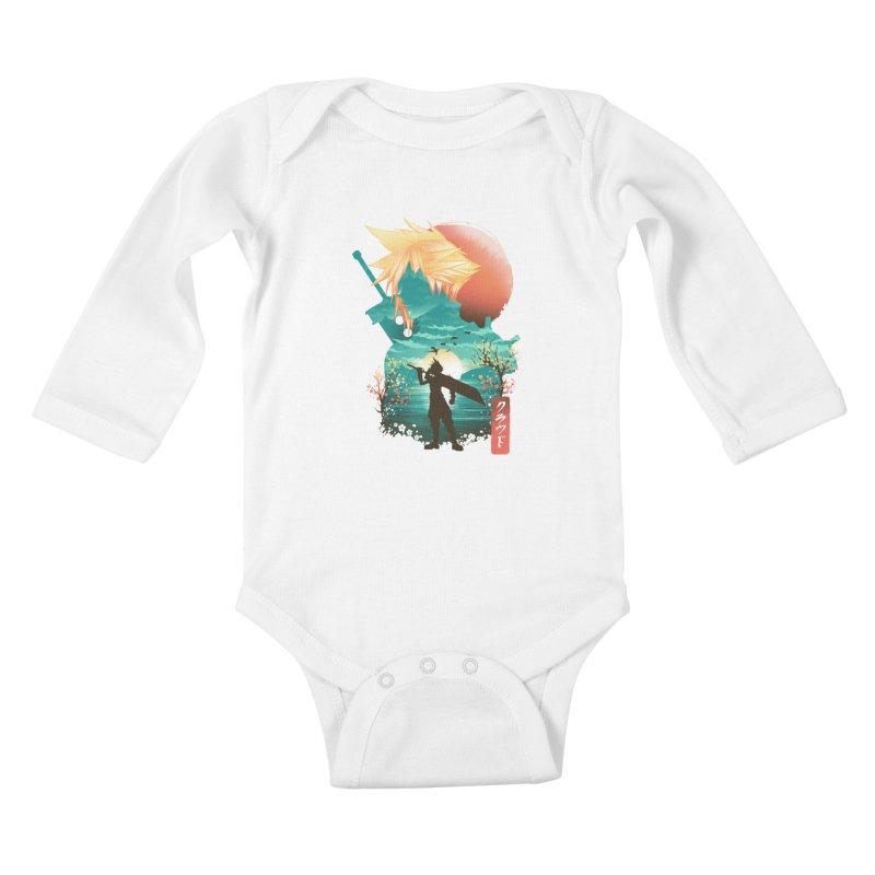 Ukiyo e Ex Soldier Kids Baby Longsleeve Bodysuit by dandingeroz's Artist Shop
