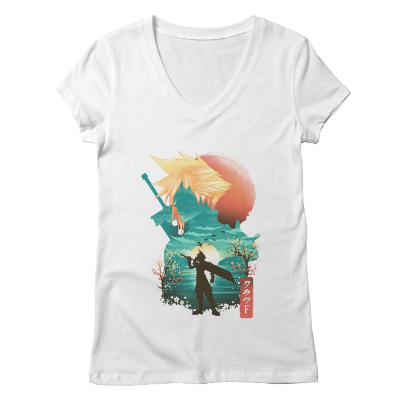 Ukiyo e Ex Soldier Women's Regular V-Neck by dandingeroz's Artist Shop