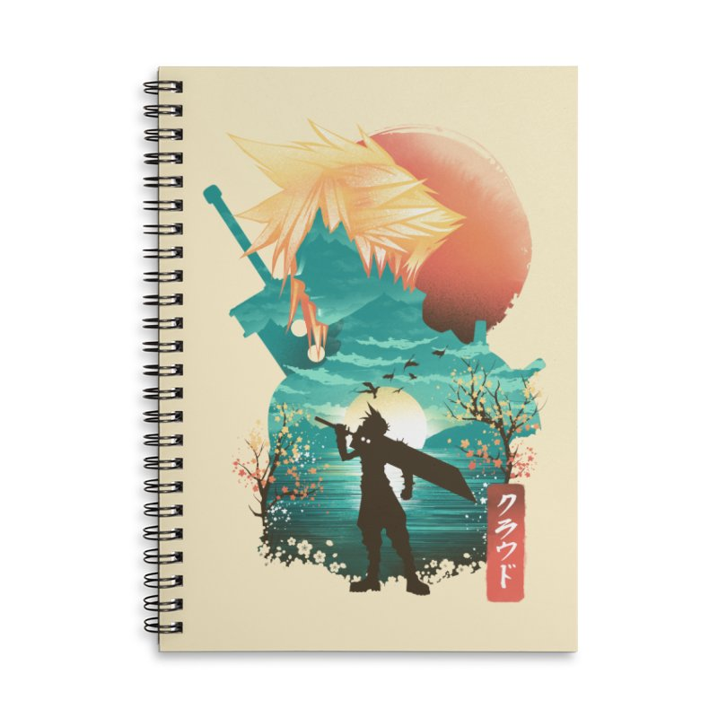 Ukiyo e Ex Soldier Accessories Lined Spiral Notebook by dandingeroz's Artist Shop