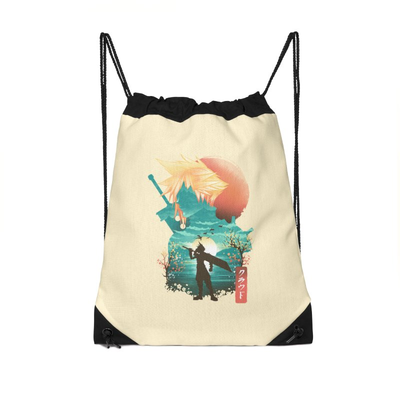 Ukiyo e Ex Soldier Accessories Drawstring Bag Bag by dandingeroz's Artist Shop