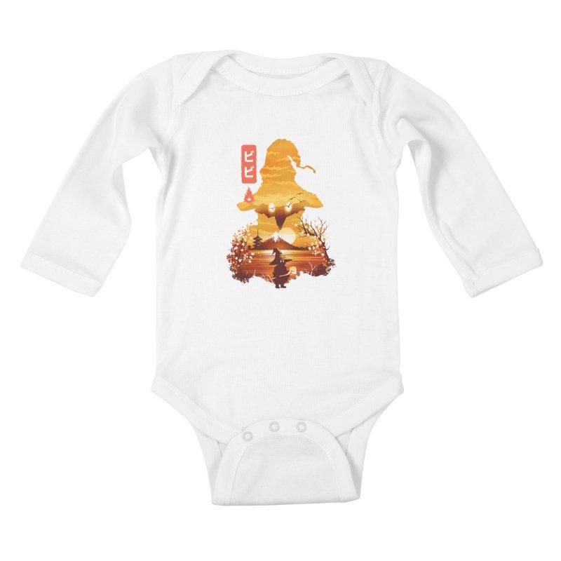 Ukiyoe e Vivi Kids Baby Longsleeve Bodysuit by dandingeroz's Artist Shop