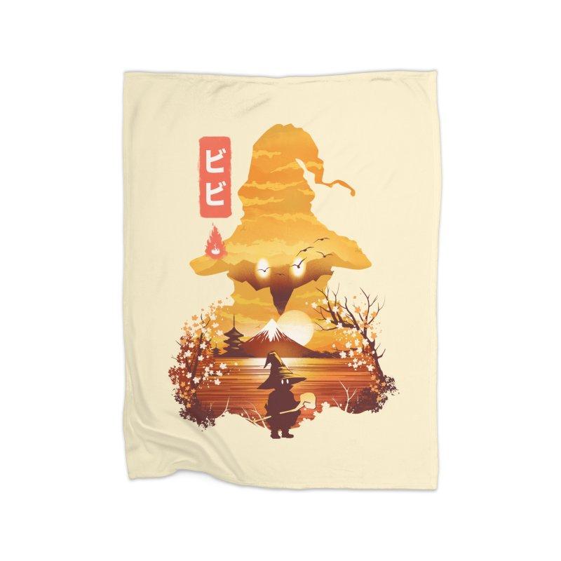 Ukiyoe e Vivi Home Fleece Blanket Blanket by dandingeroz's Artist Shop