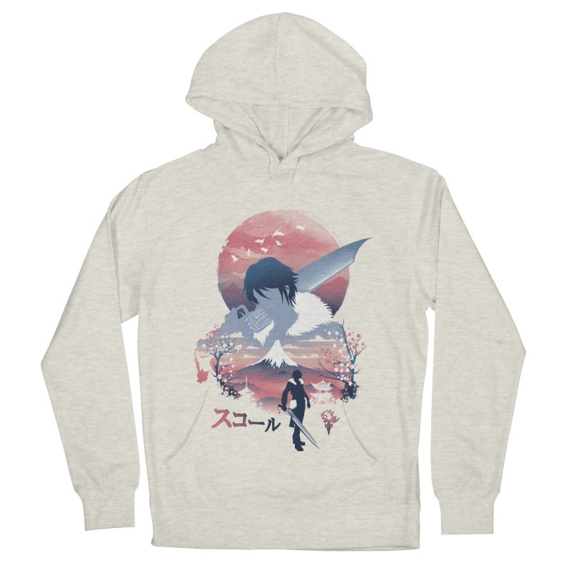 Ukiyo e Squall Women's French Terry Pullover Hoody by dandingeroz's Artist Shop