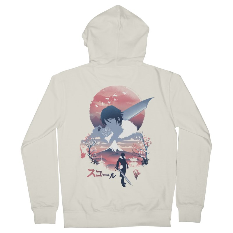 Ukiyo e Squall Men's French Terry Zip-Up Hoody by dandingeroz's Artist Shop