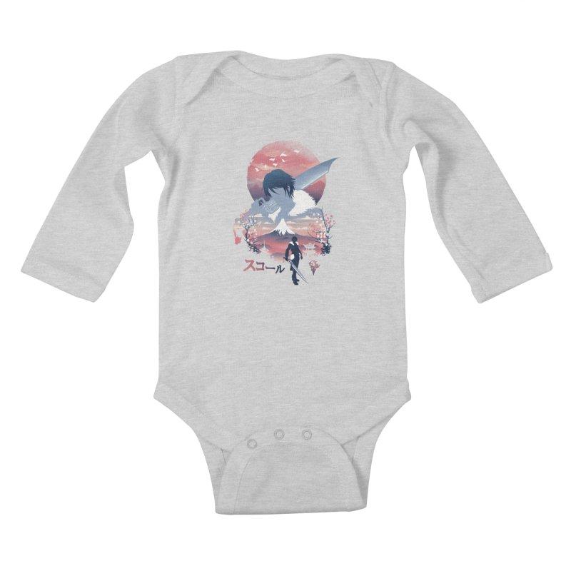 Ukiyo e Squall Kids Baby Longsleeve Bodysuit by dandingeroz's Artist Shop