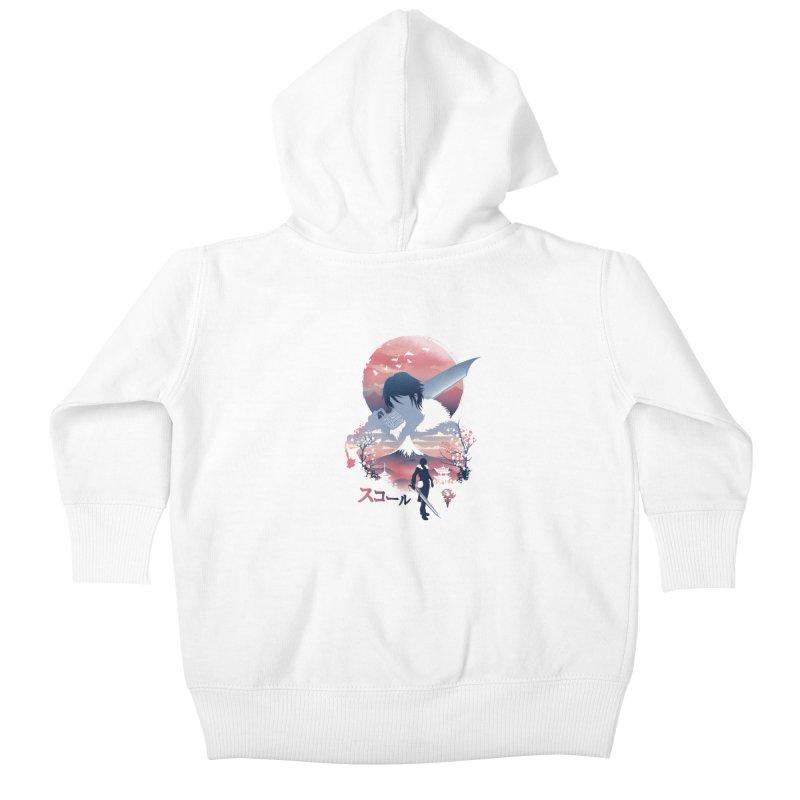 Ukiyo e Squall Kids Baby Zip-Up Hoody by dandingeroz's Artist Shop