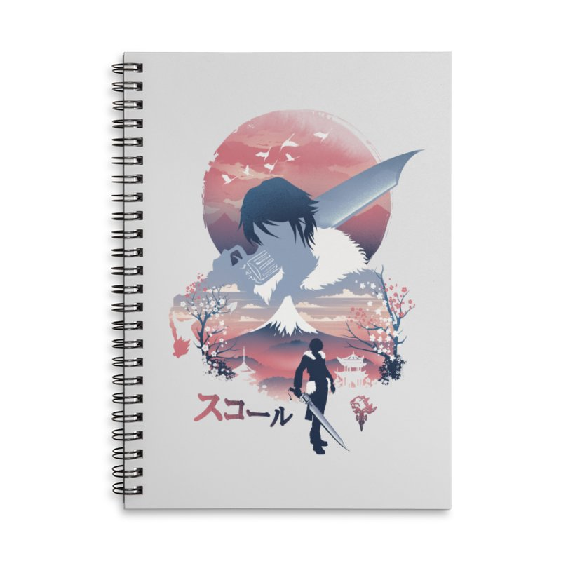 Ukiyo e Squall Accessories Lined Spiral Notebook by dandingeroz's Artist Shop