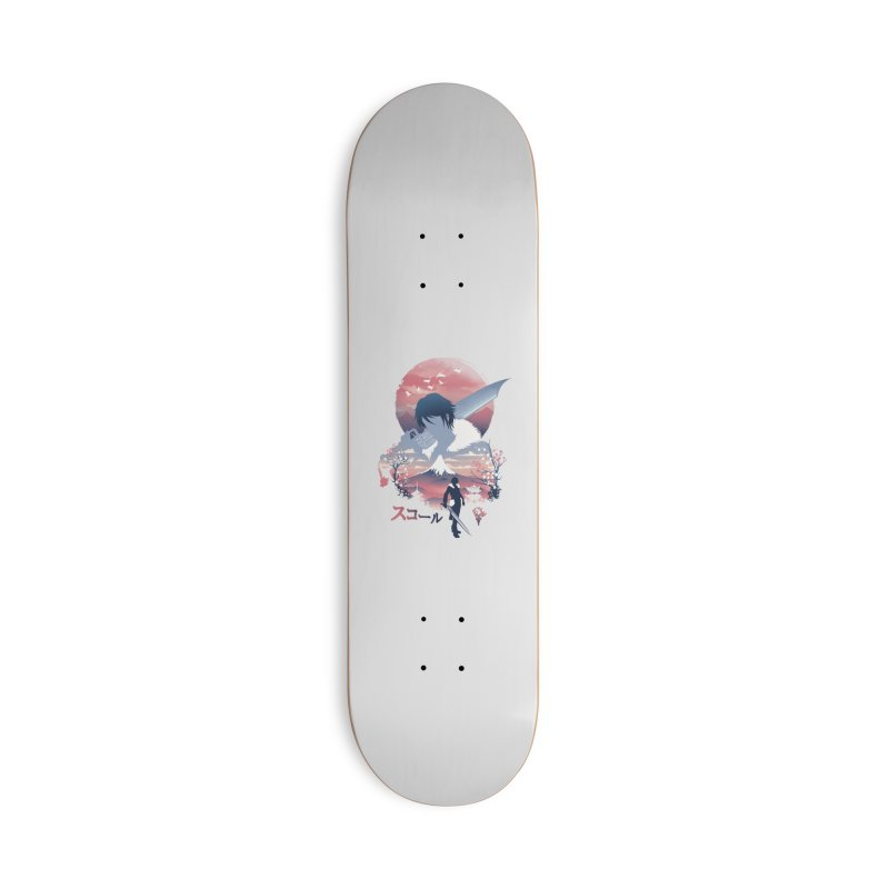 Ukiyo e Squall Accessories Deck Only Skateboard by dandingeroz's Artist Shop