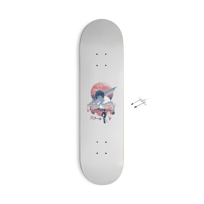 Ukiyo e Squall Accessories With Hanging Hardware Skateboard by dandingeroz's Artist Shop