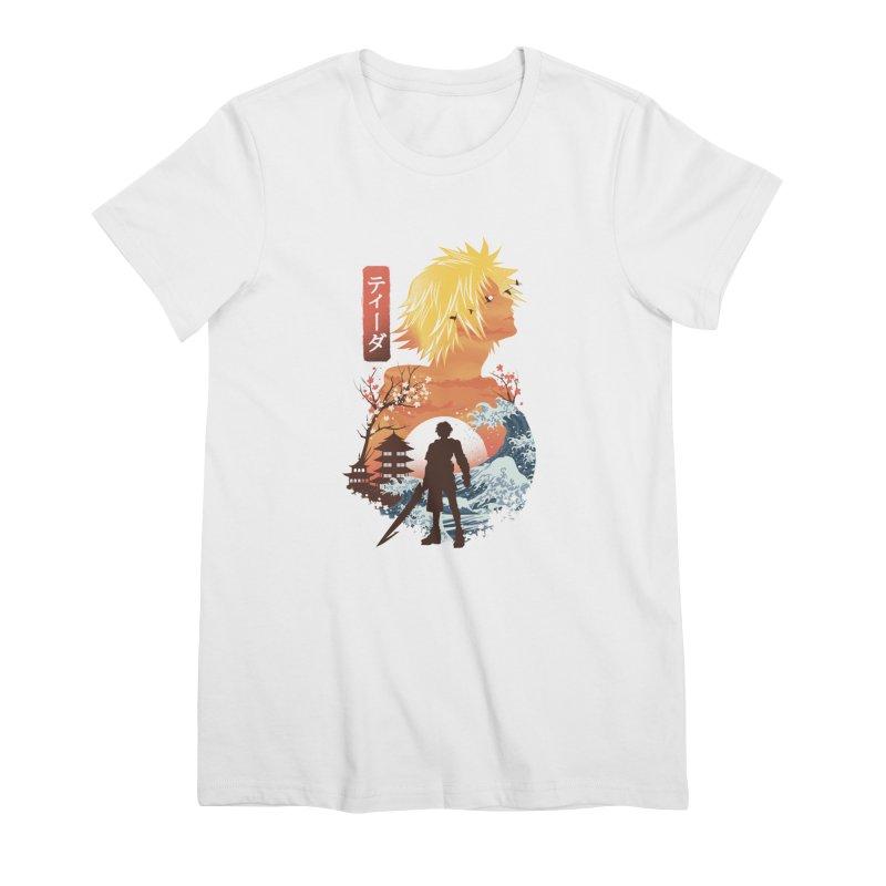 Ukiyo e Tidus Women's Premium T-Shirt by dandingeroz's Artist Shop