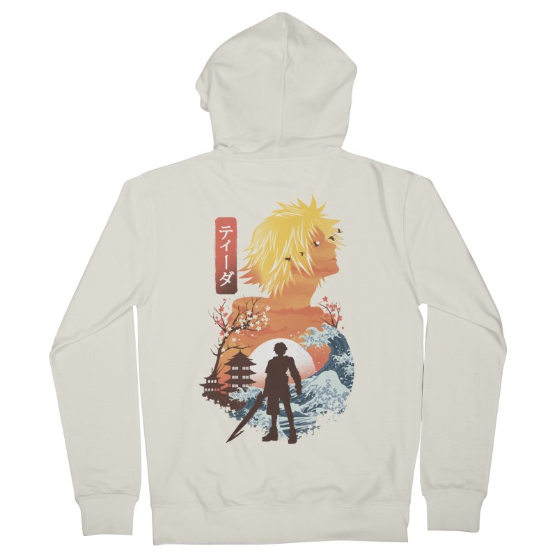 Ukiyo e Tidus Men's French Terry Zip-Up Hoody by dandingeroz's Artist Shop