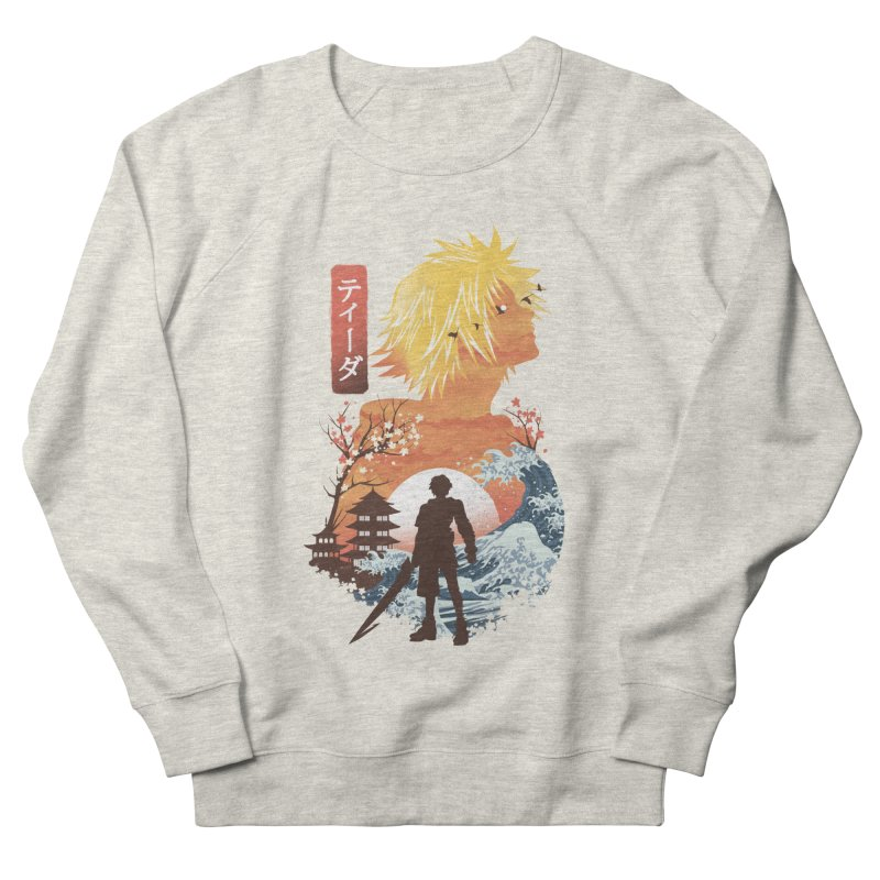 Ukiyo e Tidus Women's French Terry Sweatshirt by dandingeroz's Artist Shop