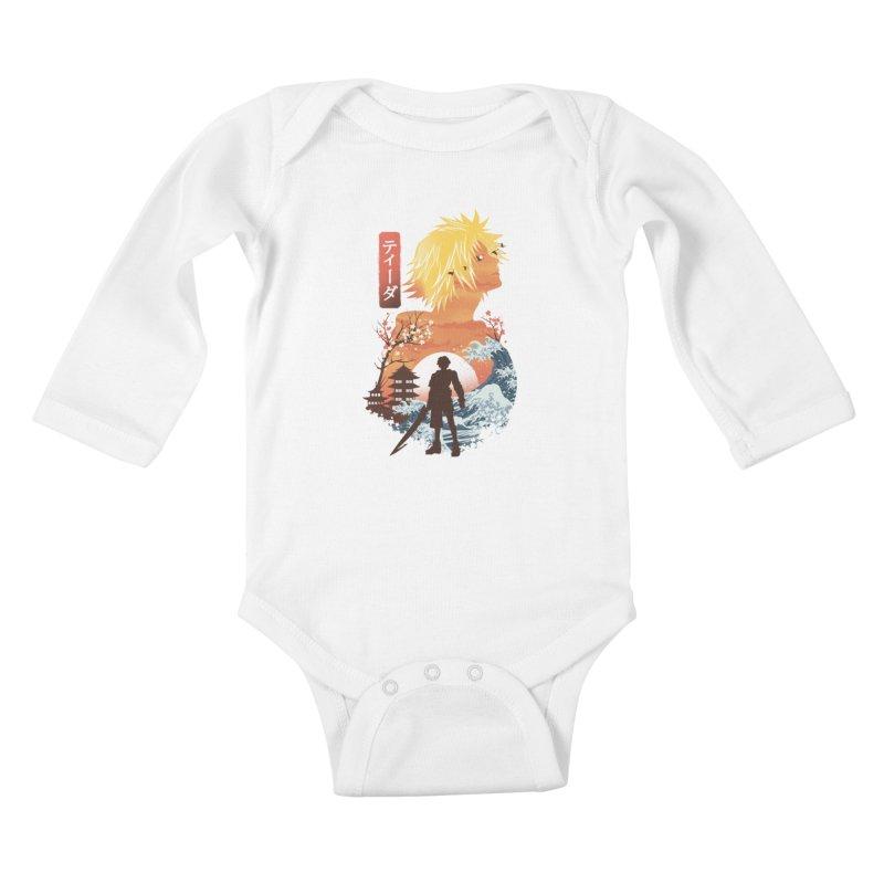 Ukiyo e Tidus Kids Baby Longsleeve Bodysuit by dandingeroz's Artist Shop