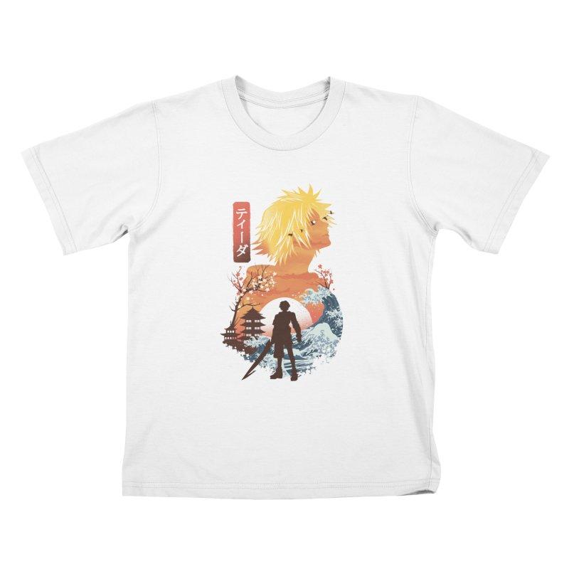 Ukiyo e Tidus Kids T-Shirt by dandingeroz's Artist Shop