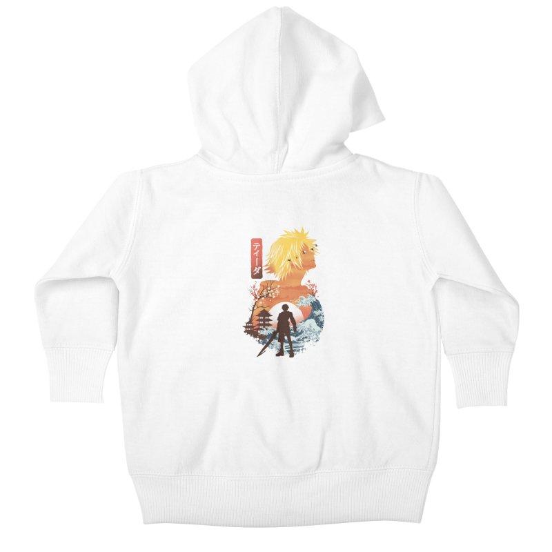 Ukiyo e Tidus Kids Baby Zip-Up Hoody by dandingeroz's Artist Shop
